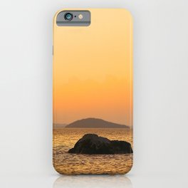 Beautiful Lakescape Yellow Orange Sunset Sky #decor #society6 #buyart iPhone Case