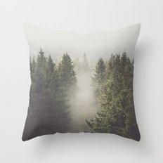 My misty way Throw Pillow