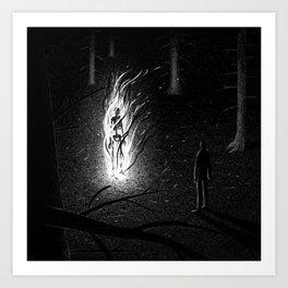 Drawlloween 2015: Skeleton Art Print