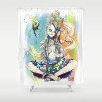 sandman Shower Curtains featuring Delirium by Archiri Usagi