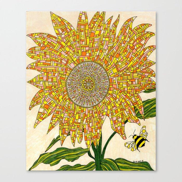 Georgia Sunflower Canvas Print