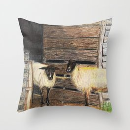 Curly and Moe Throw Pillow