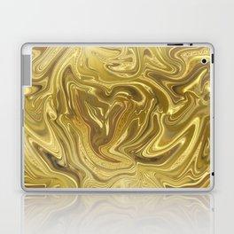 Rich Gold Shimmering Glamorous Luxury Marble Laptop & iPad Skin