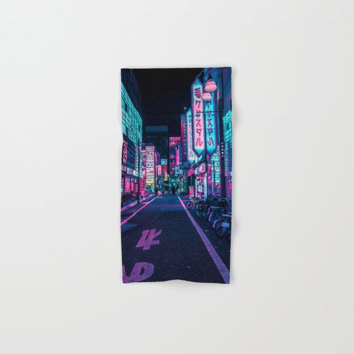 A Neon Wonderland called Tokyo Hand & Bath Towel