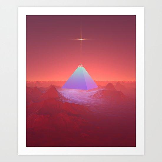 Blue Pyramid Art Print