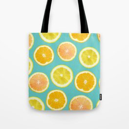 Lemon Citrus Melody Print Tote Bag