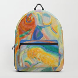 "Robert Delaunay ""Femme nue lisant (Nude Woman Reading)"" Backpack"