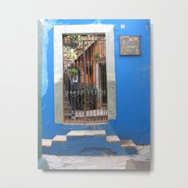 Door No. 14 in Guanajuato, Mexico (2005) Metal Print