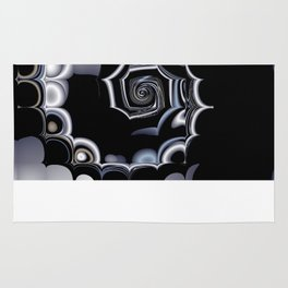 TGS Fractal Abstract in Winter Rug