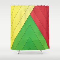 rasta Shower Curtains featuring Rasta Triangles by Arlo @ Creative Konzepts