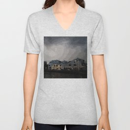 Evening at the Waterfront Unisex V-Neck