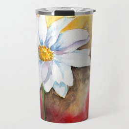 daisy with edge Travel Mug