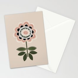 Pretty Minimalist Flower Scandinavian Style Nordic Wall Art Print by Tulip House Studio Stationery Cards