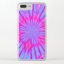 Magical Tie Dye Clear iPhone Case