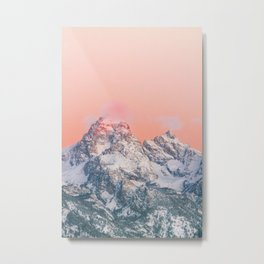 Alpenglow LIVING CORAL Mountain Sunset Metal Print