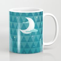 night sky Mugs featuring Night Sky by littleclyde