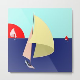 Sailing in May with May - shoes stories Metal Print