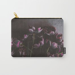 Dark Purple Floral (Color) Carry-All Pouch