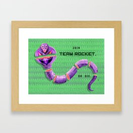 Join Team Rocket, or Die (Arbok) Framed Art Print