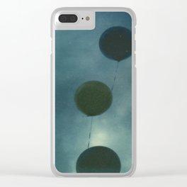 Dark Balloons Clear iPhone Case
