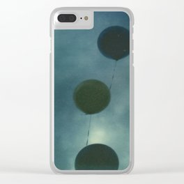 Dark Balloons Clear iPhone Case