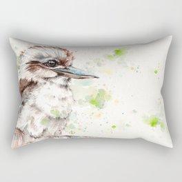 A Kookaburras Gaze Rectangular Pillow