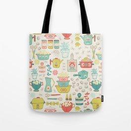 Pasta & Vintage dishes Tote Bag
