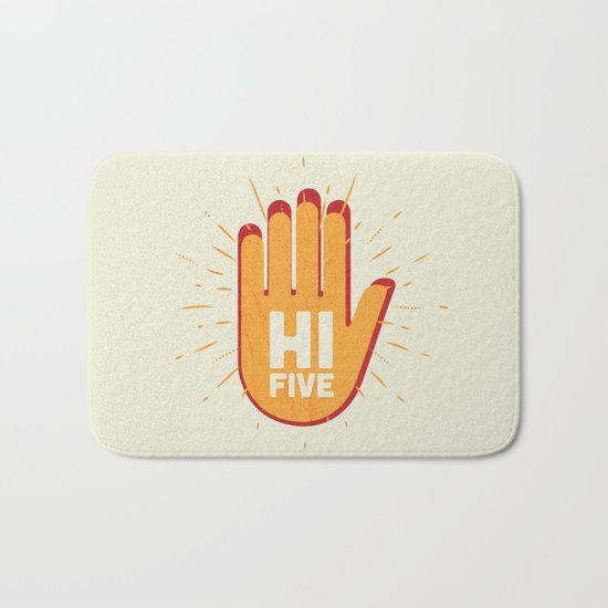 Hi five Bath Mat