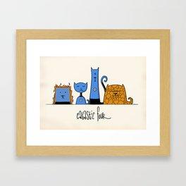 Catastic Four Framed Art Print