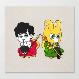 Sherlock and loki Canvas Print
