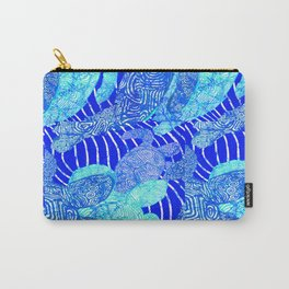 blue sea turtles Carry-All Pouch