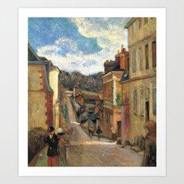 Paul Gauguin - La rue Jouvenet à Rouen (1884) Art Print
