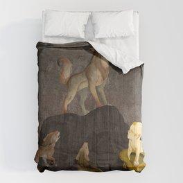 Teaching the Pups Comforters