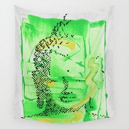 Buddha Green Wall Tapestry