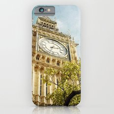 Clock Tower behind tree - London iPhone 6s Slim Case