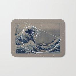 Hokusai Meets Fibonacci Bath Mat