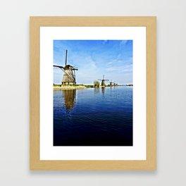 Windmills Holland Framed Art Print