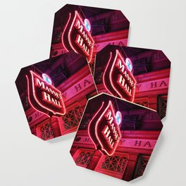 Glow forever red Coaster