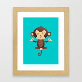 ChimpanZEN Framed Art Print