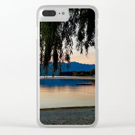 Blue Mountain Sunset Clear iPhone Case