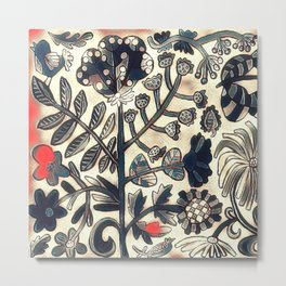 Birds and Blooms Winter Metal Print