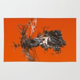 3D orange dream Rug