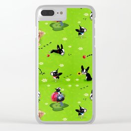 Mirabelle goes to the park a happy dog adventure Clear iPhone Case