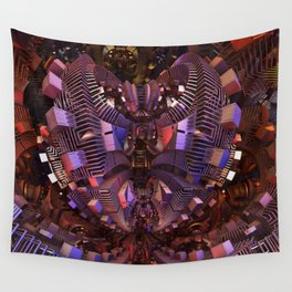 The Fractal Heart Wall Tapestry