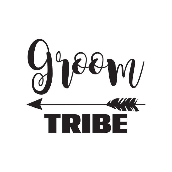 groom tribe arrow bride tribe bridal party bridesmaid groomsmen