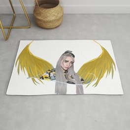 Billie Eilish Artwork With Wings Rug