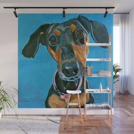 Sassy the Dashchund Dog Portrait Wall Mural