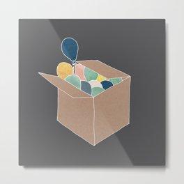 Boxed Balloons Metal Print