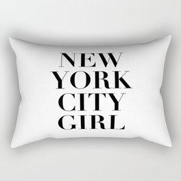 nyc girl Rectangular Pillow