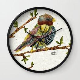 Positivity Bird 2  Wall Clock